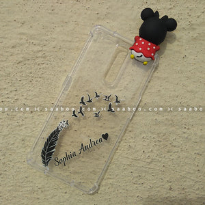 Toy Case - saaboo - Minnie Toy and Feather Name Case