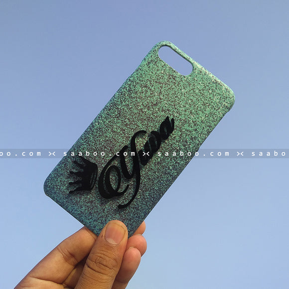 4D Case - saaboo - 4D Case Sky Blue Glitter with Name