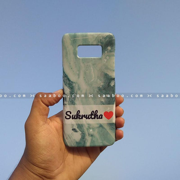 Case - saaboo - Mobile Case with Aqua and Name Print