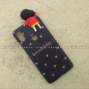 Toy Case - saaboo - Shinchan Toy and Peach Hearts Name Case