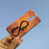 4D Case - saaboo - 4D Case Dark Gold Glitter with Infinity Name