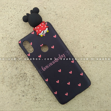 Toy Case - saaboo - Minnie Toy and Peach Hearts Name Case