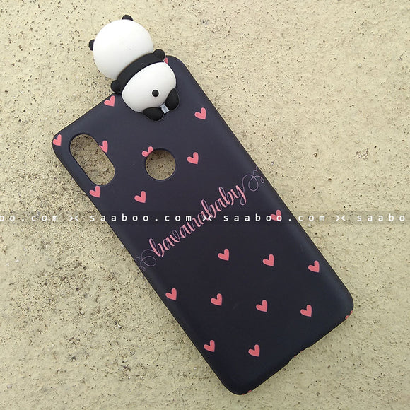 Toy Case - saaboo - Panda Toy and Peach Hearts Name Case