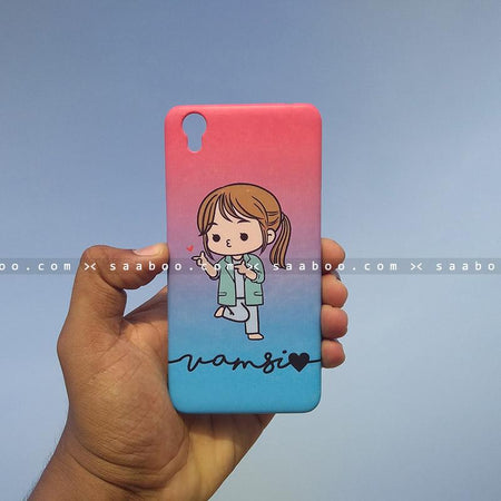 Case - saaboo - Mobile Case with Happy Doctor Girl and Wave Name Print