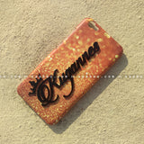 4D Case - saaboo - 4D Case Dark Gold Glitter with Black Name