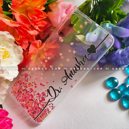 Silicone Case - saaboo - Transparent Silicone case with Stylish Font Name