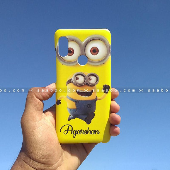 Case - saaboo - Mobile Case with Minion Eye and Name Print