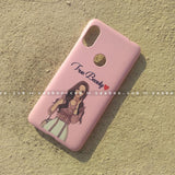 Case - saaboo - Mobile Case with Peach Charm Girl and Name Print