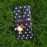 Toy Case - saaboo - Minnie Toy and Black White Hearts Name Case