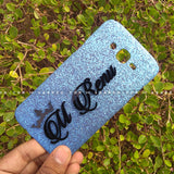 4D Case - saaboo - 4D Case Sky Blue Glitter with Black Name
