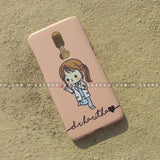 Case - saaboo - Mobile Case with Peach Girl and Wave Name Print