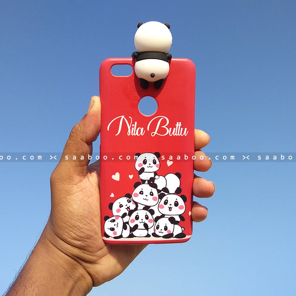 Toy Case - saaboo - Panda Toy and Red Pandas Case with Name