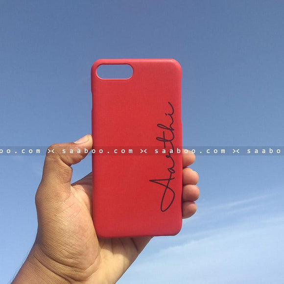 Case - saaboo - Mobile Case with Red and Style Name Print