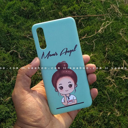 Case - saaboo - Mobile Case with Blue Moms Girl and Name Print