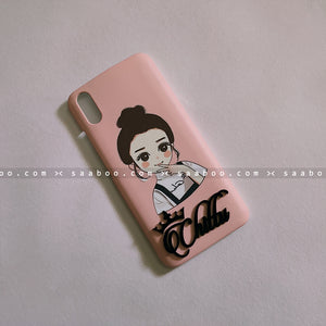 4D Case - saaboo - Peach Girl with 4D Name