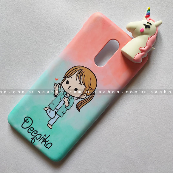 Toy Case - saaboo - Unicorn Toy With Cute Girl Name Case
