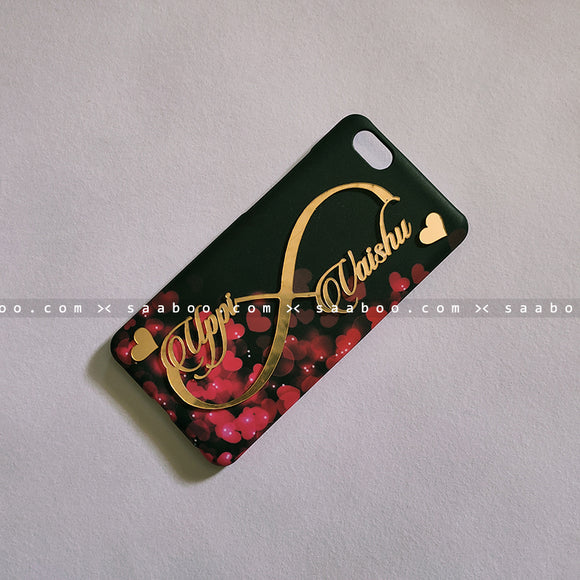 4D Case - saaboo - Infinity Hearts Case with 4D Name