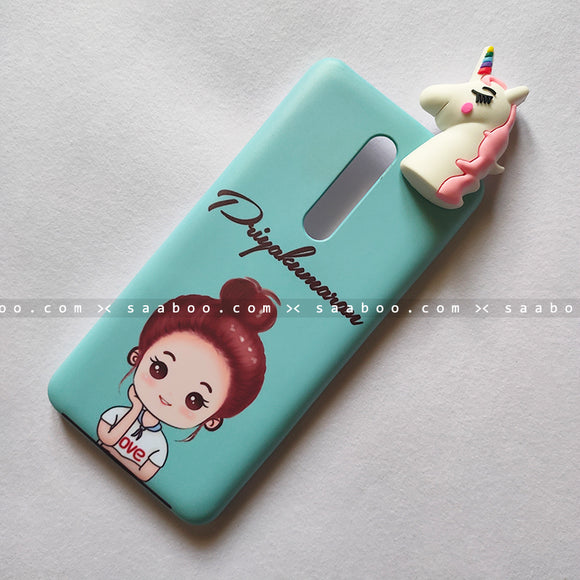 Toy Case - saaboo - Unicorn Toy With Happy Girl Name Case