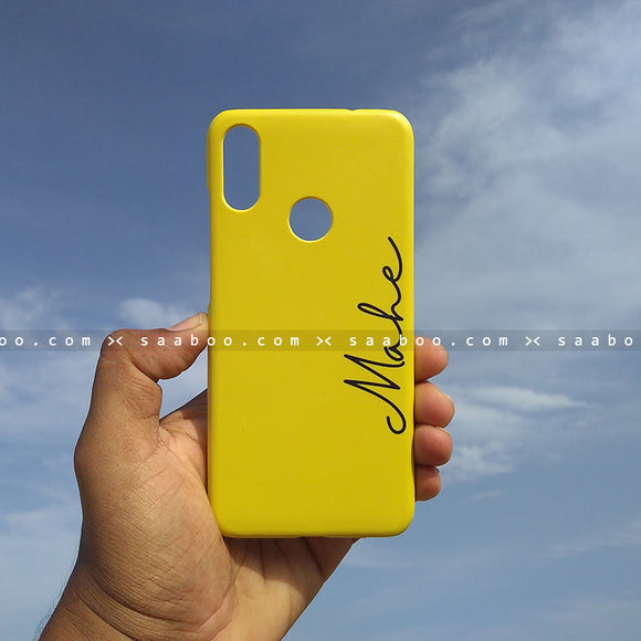 Case - saaboo - Mobile Case Yellow Name Print