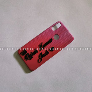 4D Case - saaboo - Pink Line Case with 4D Name