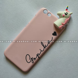 Toy Case - saaboo - Unicorn Toy With Light Pink Name Case