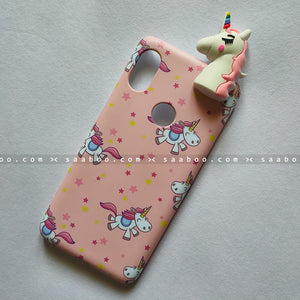 Toy Case - saaboo - Unicorn Toy With Peach Case