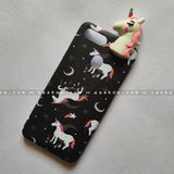 Toy Case - saaboo - Unicorn Toy With Black Case