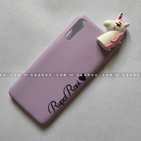 Toy Case - saaboo - Unicorn Toy With Lavender Name Case