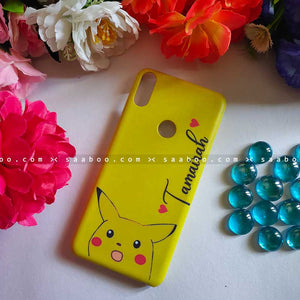 Pikachu Yellow Face Name Case
