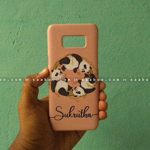 Case - saaboo - Three Pandas with Name Print