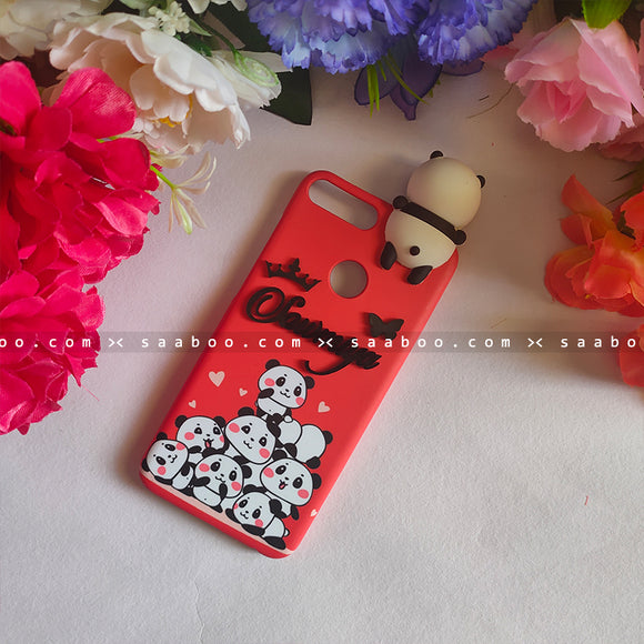 Toy Case - saaboo - Panda Toy and 4D Name Pandas Red Case