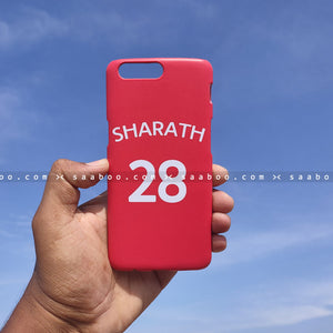 Case - saaboo - Red Case with Name and Number Print