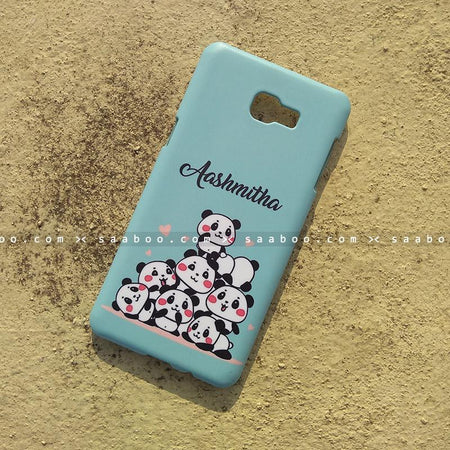 Case - saaboo - Mobile Case with Blue Pandas and Cool Name Print