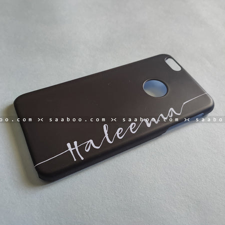 Case - saaboo - Black Case with Wave Name Print