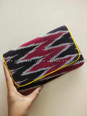 Ikat Clutches with Maroon Ikat Design
