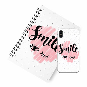 Smile A5 Spiral Notebook Case Combo