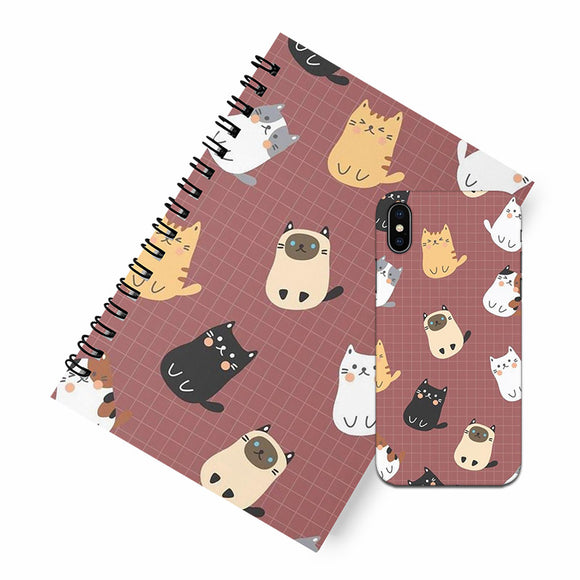 Kitty A5 Spiral Notebook Case Combo