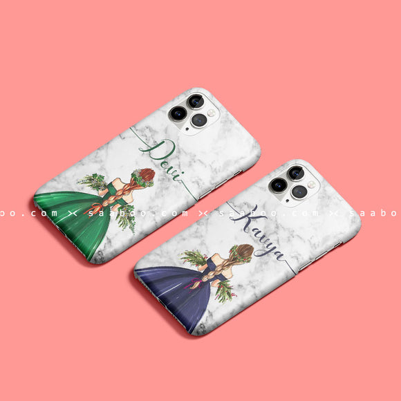 Cute Floral Girls Name Cases