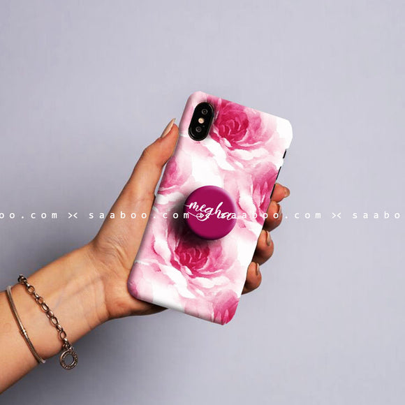 Gripper Case With Pink flower
