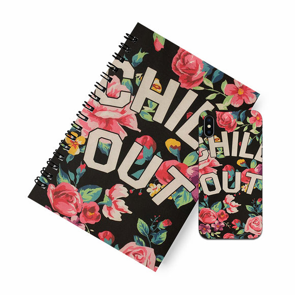 Chill out A5 Spiral Notebook Case Combo