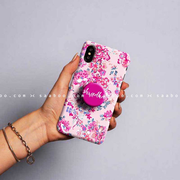 Gripper Case With Pink flowers