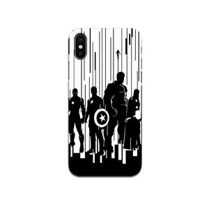 Hard Case - saaboo - Black and White Avengers