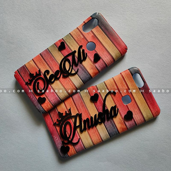 Couple Cases - saaboo - Couple Cases Color Wooden Name
