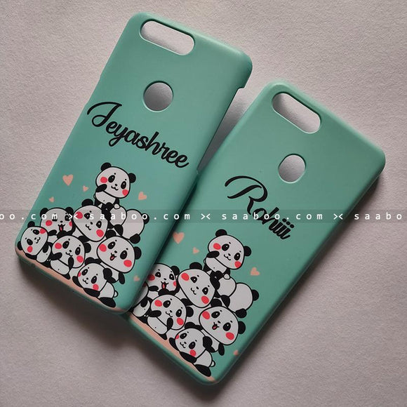 Couple Cases - saaboo - Couple Cases Blue Pandas Name