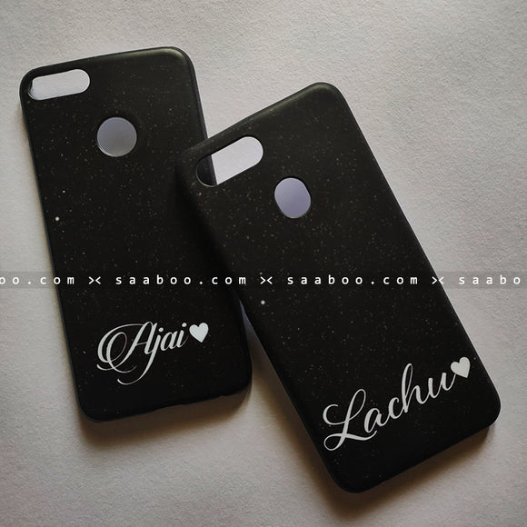 Couple Cases Black Stars Name Cases