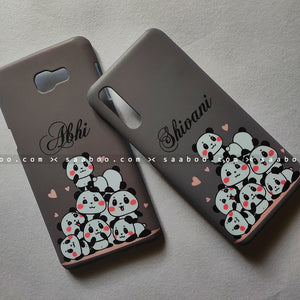 Couple Cases Grey Pandas Name Cases