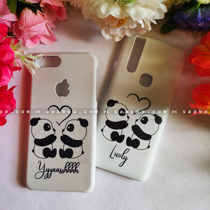 Couple Cases Panda Love Name Cases