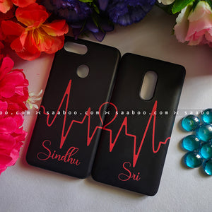 Couple Cases Heart Beat Name Case