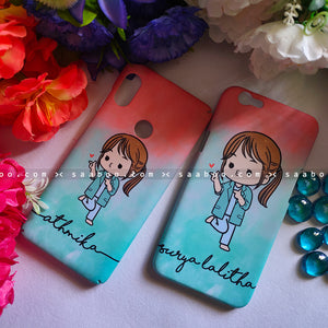 Couple Cases Happy Girls Wave Name Cases