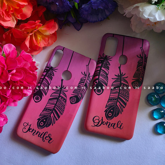 Couple Cases Feather Name Cases